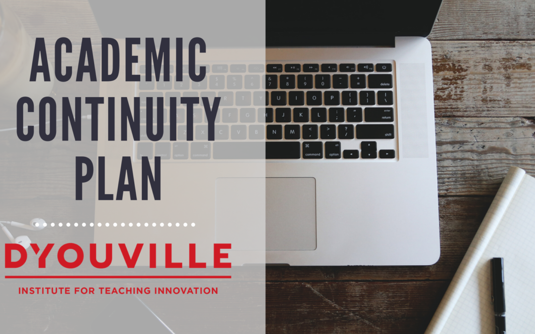 RESOURCES – Instructional Continuity Plan – Online Learning