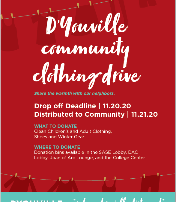 D'Youville Community Clothing Drive