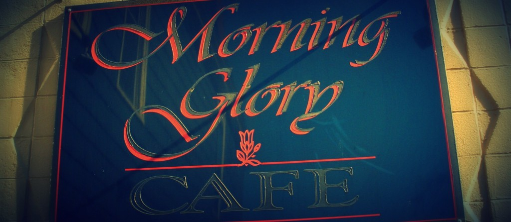 Morning Glory Cafe sign