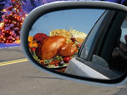 turkey-dinner rearview mirror copy