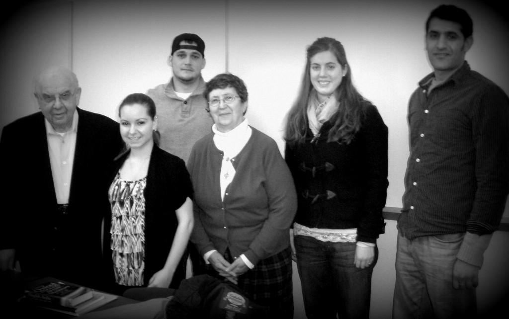A group of DYC Students with Joe Diamond