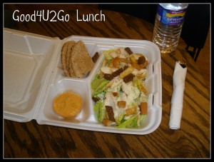 Good4U2Go lunch in to go container