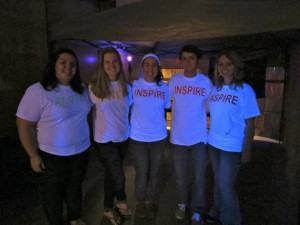Students in Lambda Sigma and Pre-Pharmacy club helping out with the event