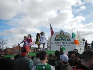Traditional Irish dancers