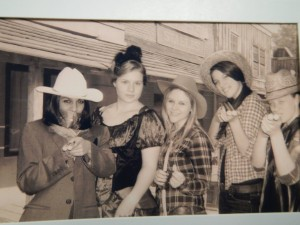 Old time photos taken at country night last semester