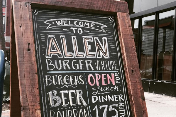 Sign outside of Allen Burger Venture