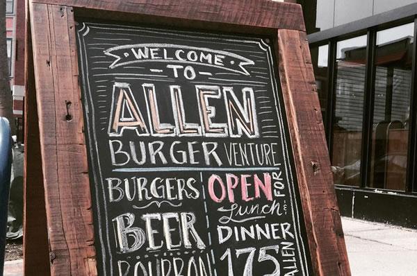 Sign outside of Allen Burger Venture