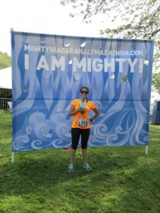 Amanda trained and ran her first half marathon while in the OT program.